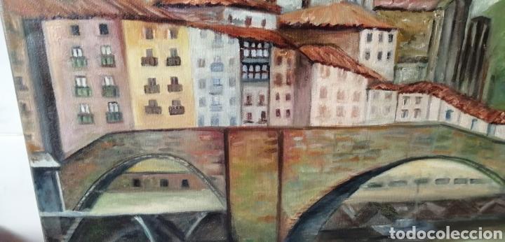 Arte: Precioso paisaje a óleo sobre lienzo de la ría de Bilbao - Foto 4 - 268615624