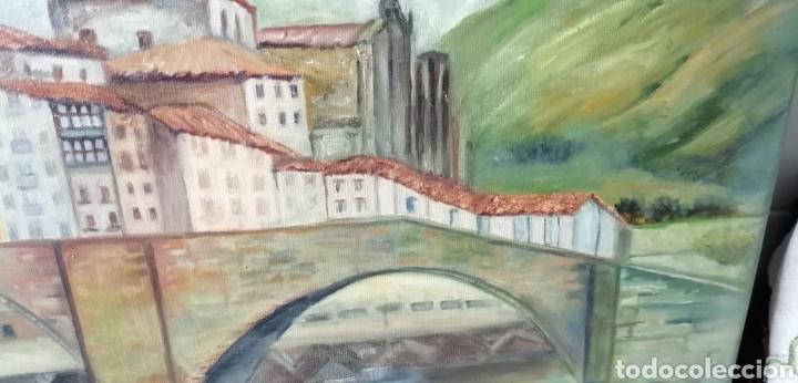 Arte: Precioso paisaje a óleo sobre lienzo de la ría de Bilbao - Foto 5 - 268615624