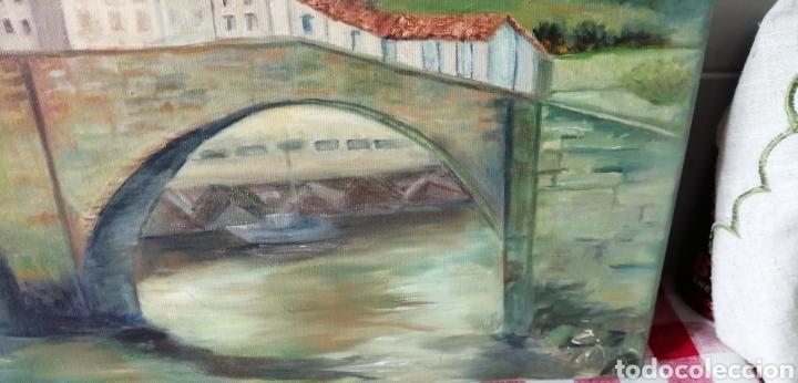 Arte: Precioso paisaje a óleo sobre lienzo de la ría de Bilbao - Foto 6 - 268615624