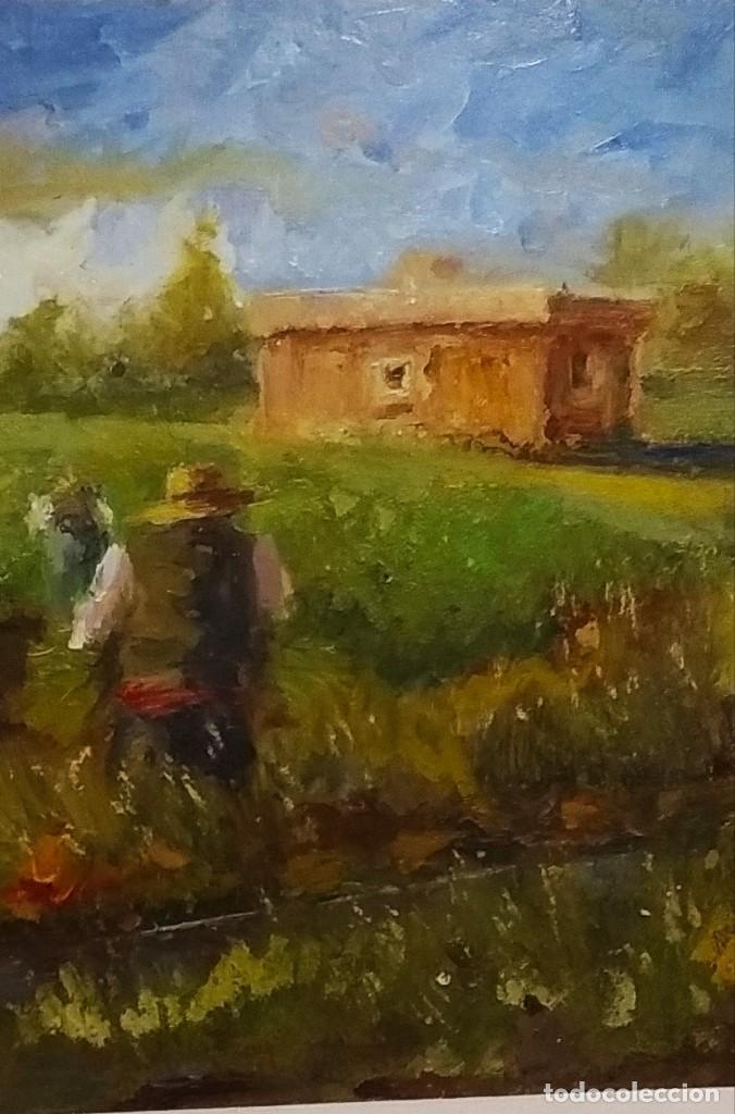 Arte: Trabajando los arrozales . Obra del gran pintor Ramon Sanvisens - Foto 2 - 268716109