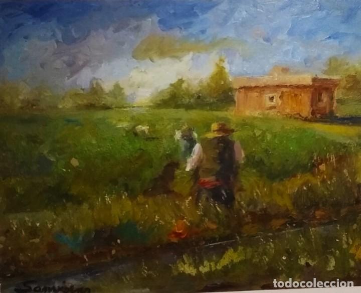 Arte: Trabajando los arrozales . Obra del gran pintor Ramon Sanvisens - Foto 3 - 268716109