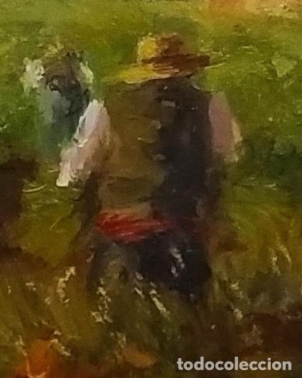 Arte: Trabajando los arrozales . Obra del gran pintor Ramon Sanvisens - Foto 5 - 268716109