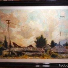 Art: NUBES EN EL CAMINO DEL GRAO . OBRA DEL MAGNIFICO PINTOR JUAN PORCAR RIPOLLES. Lote 268721059