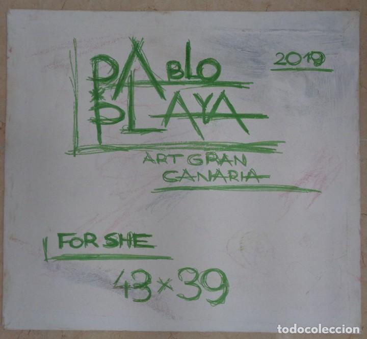 Arte: For SHE Pablo Playa 43x39x0,5 cm Oleo - Foto 4 - 268741769