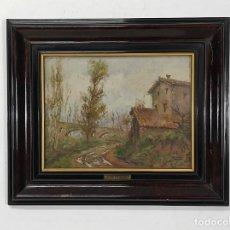 Arte: JACINT CONILL ORRIOLS (1914-1992) - ÓLEO SOBRE TABLEX - PAISAJE - VICH. Lote 268749614