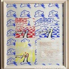 Art: HERMINIO MOLERO, TOUCH ME, 1974, TÉMPERA SOBRE PAPEL 71 X 66 CM.. Lote 253901650