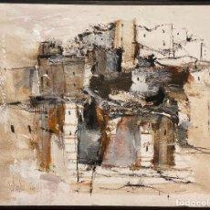 Arte: GINO F. HOLLANDER , TORREMOLINOS , TORRE PIMENTEL , 1967 , OLEO LIENZO. Lote 268966344