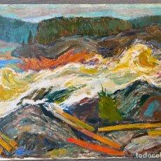 Arte: CARL MAGNUS LINDQVIST , 1884-1977 , SWEDISH ARTIST . 1938 . OIL . OLEO CARTÓN. Lote 268967759