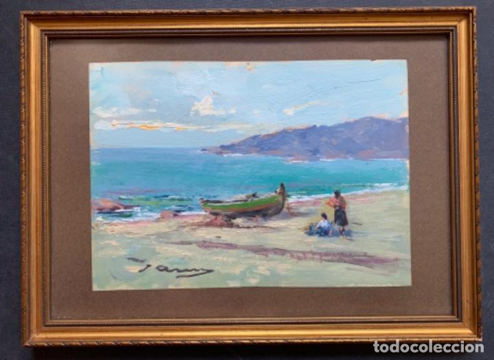 OLEO SOBRE CARTULINA, MARINA, JOAQUIN ASENSIO 23X16 CM (Arte - Pintura Directa del Autor)