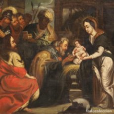 Arte: ADORACIÓN DE LOS MAGOS DEL SIGLO XVIII. Lote 269033669