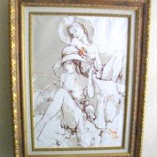 Arte: OBRA DE BERNARD DUFOUR ( 59 X 54 CTMSCON MARCO INCLUIDO) FIRMADA. Lote 269085008