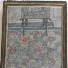 """Arte: """"INTERIOR"""" DE MARIANO DE BLAS DE 1976. ÓLEO SOBRE LIENZO-131,5X 95,5 CM MARCO.. Lote 269099298"""