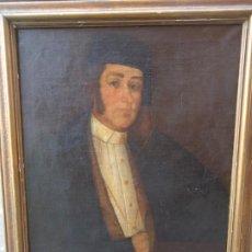 Arte: SIGLO 19 ANTIGUO OLEO LIENZO POSIBLE RETRATO DE BALTASAR HIDALGO DE CISNEROS MARINO ESPAÑOL 1756 EL. Lote 269113173