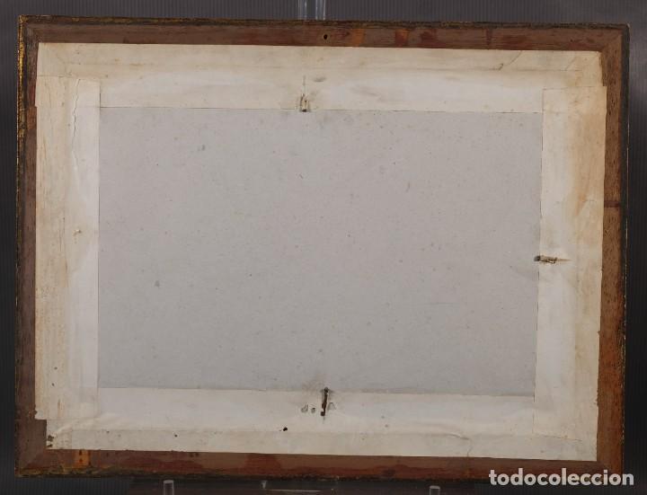 Arte: Óleo sobre cartón Barco en el mar firmado ilegible finales siglo XIX - Foto 10 - 269157498