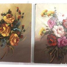 Arte: COLECCION DE 2 PINTURAS ORIGINALES AL OLEO TAMAÑO 24X30. Lote 269228648