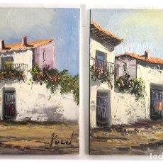 Arte: COLECCION DE 2 PINTURAS ORIGINALES AL OLEO TAMAÑO 24X30. Lote 269228678