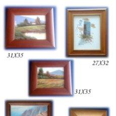 Arte: COLECCION DE 5 CUADROS DE PINTURAS ORIGINALES AL OLEO VARIOS TAMAÑOS. Lote 269229868