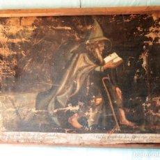Arte: OLEO SOBRE LIENZO DE UN MÍSTICO MONJE REZANDO ANTE LA CRUZ.OIL ON CANVAS OF A MYSTIC MONK PRAYING. Lote 269236053