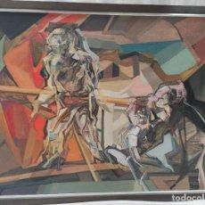 """Arte: """"PINTURA I"""" DE CARLES ARQUÉS TOST (1948) DE 1975. ÓLEO SOBRE LIENZO.106X138 CM MARCO.. Lote 269246708"""