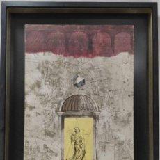 """Arte: """"MUJER ENTRE ARCOS"""" FIRMADO COMO RUBIS. ÓLEO SOBRE LIENZO.. Lote 269252703"""