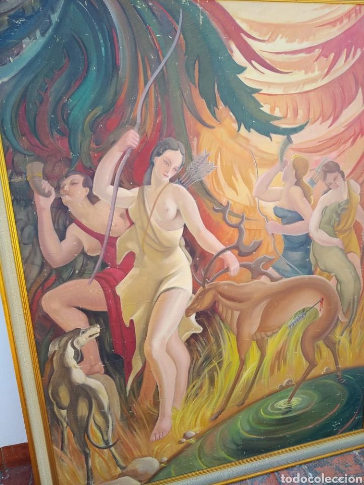 Arte: Gran Pintura oleo sobre lienzo ,periodo segunda República española ,1930atribuida manolita ballester - Foto 3 - 269300918