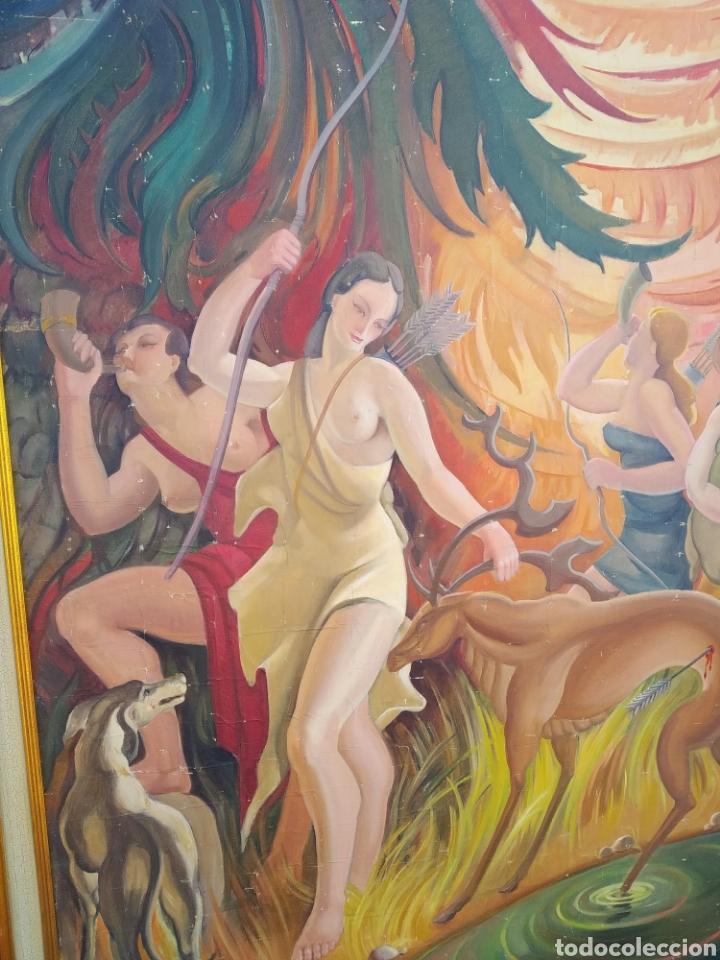 Arte: Gran Pintura oleo sobre lienzo ,periodo segunda República española ,1930atribuida manolita ballester - Foto 4 - 269300918