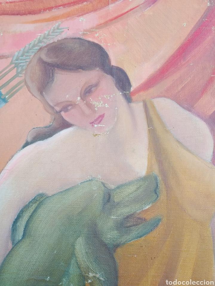 Arte: Gran Pintura oleo sobre lienzo ,periodo segunda República española ,1930atribuida manolita ballester - Foto 14 - 269300918