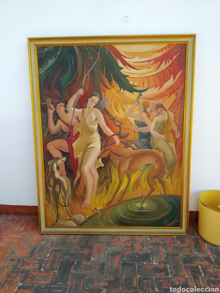 Arte: Gran Pintura oleo sobre lienzo ,periodo segunda República española ,1930atribuida manolita ballester - Foto 15 - 269300918