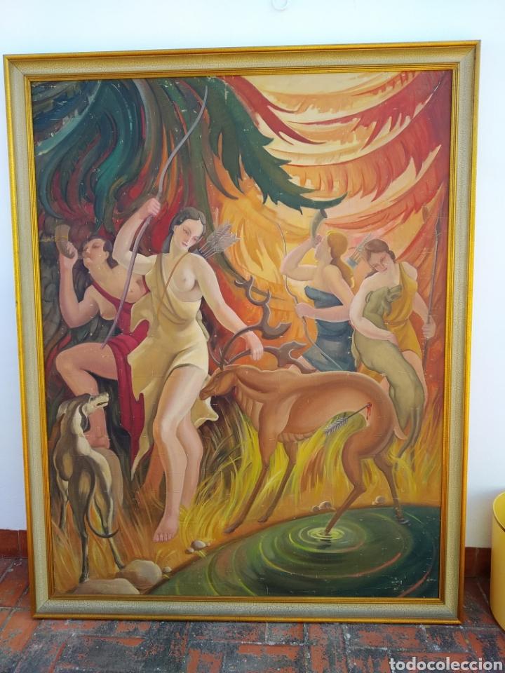 GRAN PINTURA OLEO SOBRE LIENZO ,PERIODO SEGUNDA REPÚBLICA ESPAÑOLA ,1930ATRIBUIDA MANOLITA BALLESTER (Arte - Pintura - Pintura al Óleo Contemporánea )