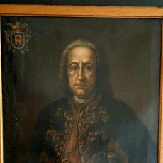 Arte: IMPRESIONANTE Y ANTIGUA PINTURA , OLEO SOBRE LIENZO , RETRATO DE D.JUAN DE URBINA 1765. Lote 269302783