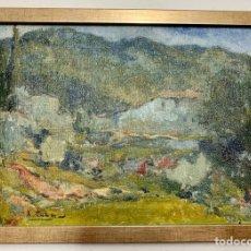Arte: XAVI CABA COMPANY 1928-1996 CASTELLAR DEL VALLÈS,1ª ÉPOCA, MASIA, 28,5X21 CM OBRA. Lote 269402073
