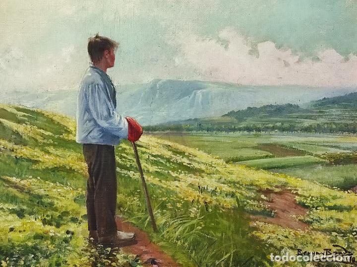 Arte: Berga y Boada (Olot 1872- Sant Feliu de Guixols 1923 - Óleo sobre Tela - Paisaje - Año 1910 - Foto 2 - 269602623