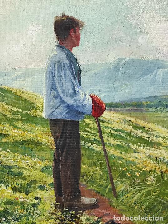 Arte: Berga y Boada (Olot 1872- Sant Feliu de Guixols 1923 - Óleo sobre Tela - Paisaje - Año 1910 - Foto 3 - 269602623