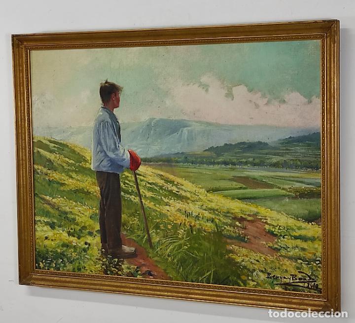 Arte: Berga y Boada (Olot 1872- Sant Feliu de Guixols 1923 - Óleo sobre Tela - Paisaje - Año 1910 - Foto 11 - 269602623