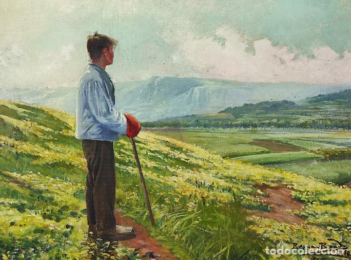 Arte: Berga y Boada (Olot 1872- Sant Feliu de Guixols 1923 - Óleo sobre Tela - Paisaje - Año 1910 - Foto 14 - 269602623