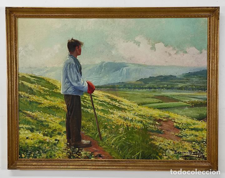 Arte: Berga y Boada (Olot 1872- Sant Feliu de Guixols 1923 - Óleo sobre Tela - Paisaje - Año 1910 - Foto 15 - 269602623