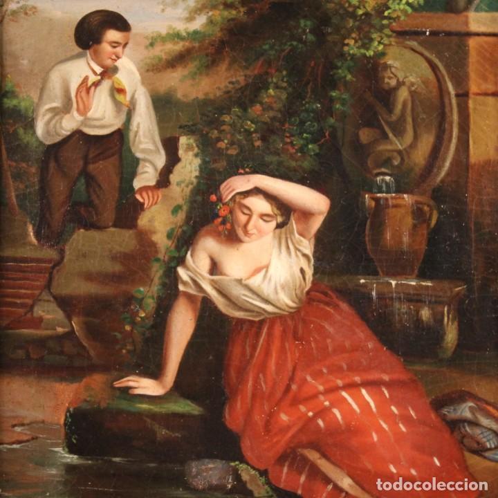 PEQUEÑA PINTURA ROMÁNTICA DEL SIGLO XIX (Arte - Pintura - Pintura al Óleo Moderna siglo XIX)