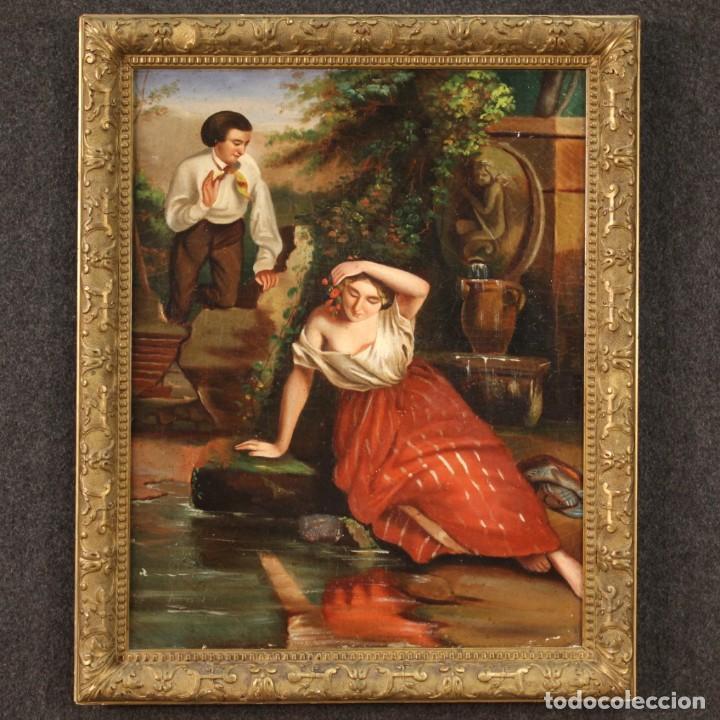 Arte: pequeña pintura romántica del siglo XIX - Foto 2 - 269626838