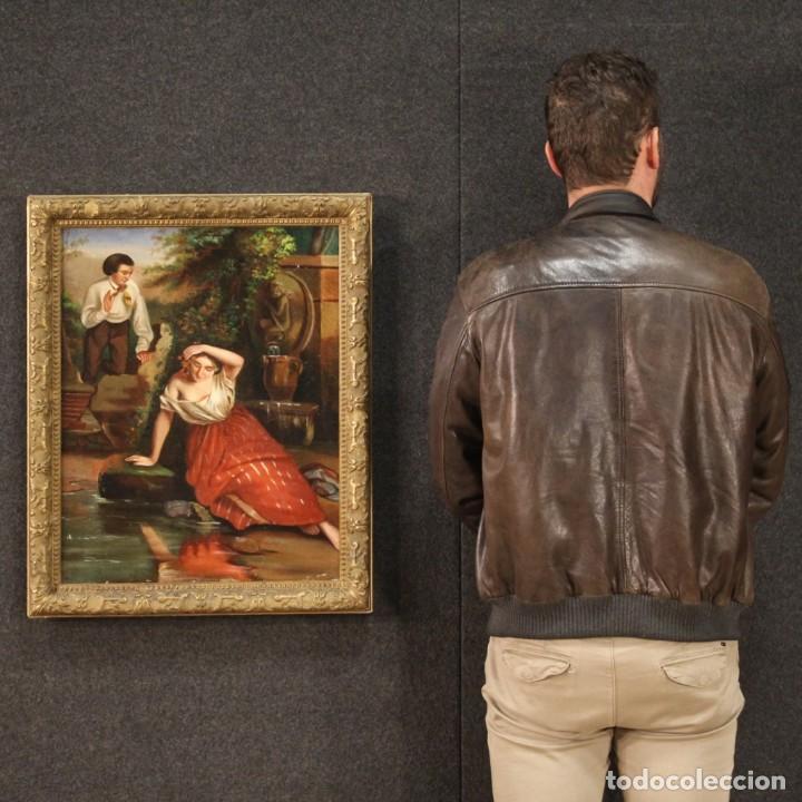 Arte: pequeña pintura romántica del siglo XIX - Foto 3 - 269626838
