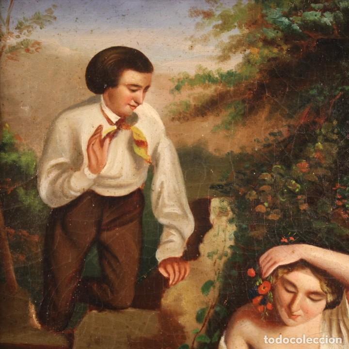 Arte: pequeña pintura romántica del siglo XIX - Foto 7 - 269626838