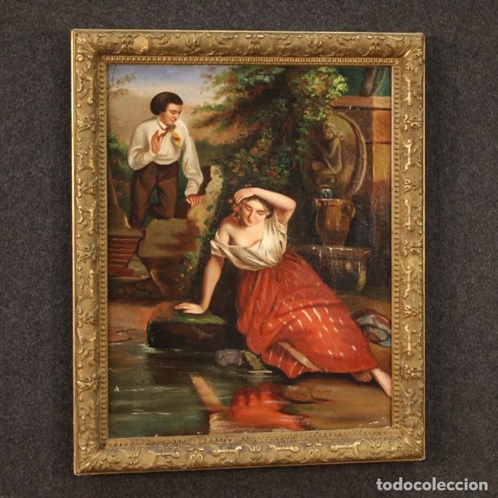 Arte: pequeña pintura romántica del siglo XIX - Foto 12 - 269626838