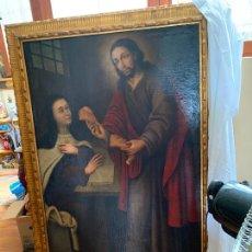 Arte: PINTURA ANTIGUA SANTA TERESA Y JESÚS. Lote 269628188