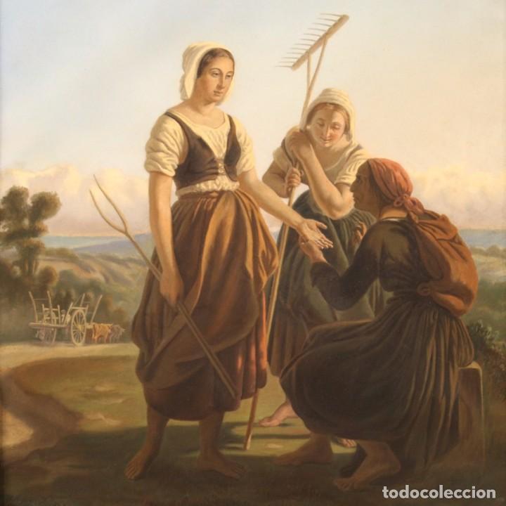 HERMOSO PASTEL DEL SIGLO XIX (Arte - Pintura - Pintura al Óleo Moderna siglo XIX)