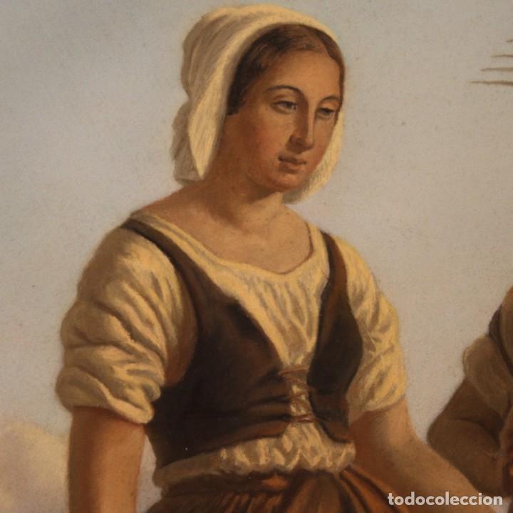 Arte: Hermoso pastel del siglo XIX - Foto 9 - 269714278