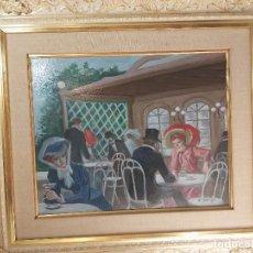 Arte: PINTURA DE ALFREDO OPISSO Y VIÑAS 1827 - 1924 33 CM X 41 CM. Lote 269835583