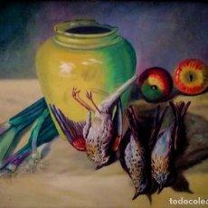 Arte: BODEGON CON TORDOS ANTONIO GOMAR GOMAR VALENCIA 1849 -1911. Lote 269965588