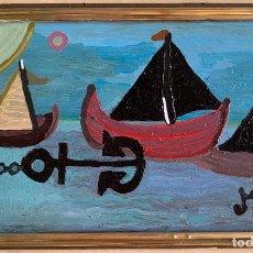 Arte: ANTONI MARTÍ, SEUDÓNIMO (CASSERRES, 1.960). ÓLEO SOBRE TÁBLEX. ENMARCADO 28 X 17. Lote 270102138