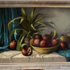 Arte: GRAN BODEGÓN DE FRUTAS PINTADO AL OLEO. FIRMADO QUILES. CON MARCO MIDE 102X73CM. Lote 270141593