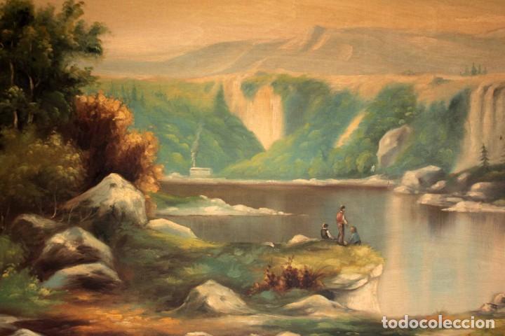 Arte: Gran paisaje pintado al oleo sobre lienzo. Firmado Verdú. Pintor Valenciano. Con marco 139x79cm - Foto 2 - 270143538
