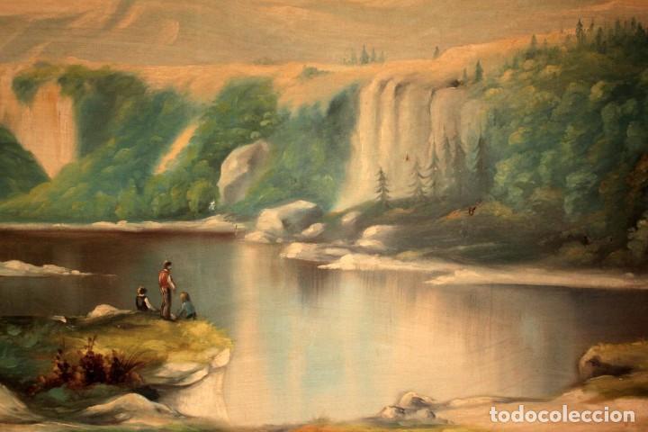 Arte: Gran paisaje pintado al oleo sobre lienzo. Firmado Verdú. Pintor Valenciano. Con marco 139x79cm - Foto 3 - 270143538